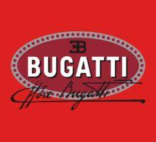 Classic Car Logos: Automobiles Ettore Bugatti (signature) One Piece - Short Sleeve