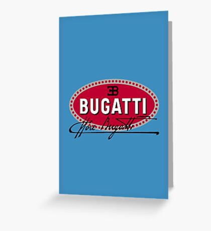 Classic Car Logos: Automobiles Ettore Bugatti (signature) Greeting Card