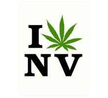 I Love Nevada Marijuana Cannabis Weed  Art Print