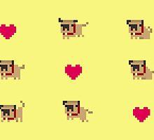 Pixel pug by Tropelio