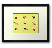 Pixel pug Framed Print