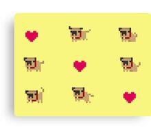 Pixel pug Canvas Print