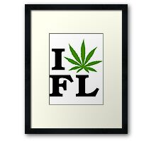 I Love Florida Marijuana Cannabis Weed  Framed Print