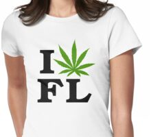 I Love Florida Marijuana Cannabis Weed  Womens Fitted T-Shirt