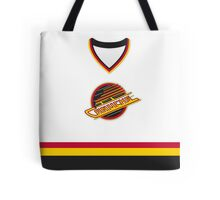 Vancouver Canucks 1989-97 Home Jersey Tote Bag