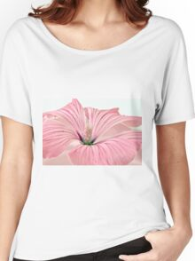 Lavatera Blossom With Rain Drops Women's Relaxed Fit T-Shirt