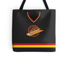 Vancouver Canucks 1989-97 Away Jersey Tote Bag