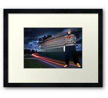 I AM The Blur Framed Print