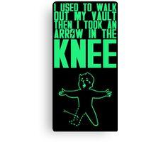 Vault Boy - Knee (ENG) - Green Canvas Print