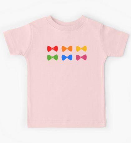 Rainbow Bows Pattern Kids Tee