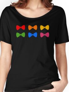 Rainbow Bows Pattern Women's Relaxed Fit T-Shirt