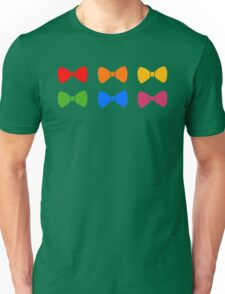 Rainbow Bows Pattern Unisex T-Shirt