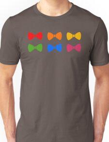Rainbow Bows Pattern Unisex T-Shirt