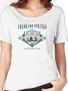 "Marijuana Colorado Springs ""Lite It Up"" Women's Relaxed Fit T-Shirt"