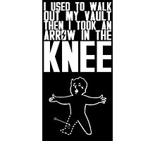 Vault Boy - Knee (ENG) - White Photographic Print