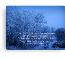 Good King Wenceslas  Christmas Card Canvas Print