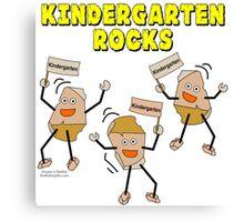 Kindergarten Rocks Canvas Print