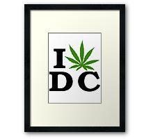 I Love Washington D.C. Marijuana Cannabis Weed  Framed Print