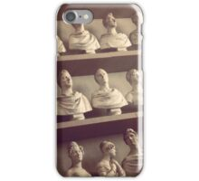 Collection of Busts & Heads Sculpture in Florence Gallery, Italy. iPhone Case/Skin