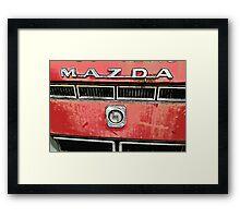 The Mazda Red Truck Framed Print