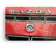 The Mazda Red Truck Metal Print