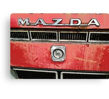 The Mazda Red Truck Canvas Print