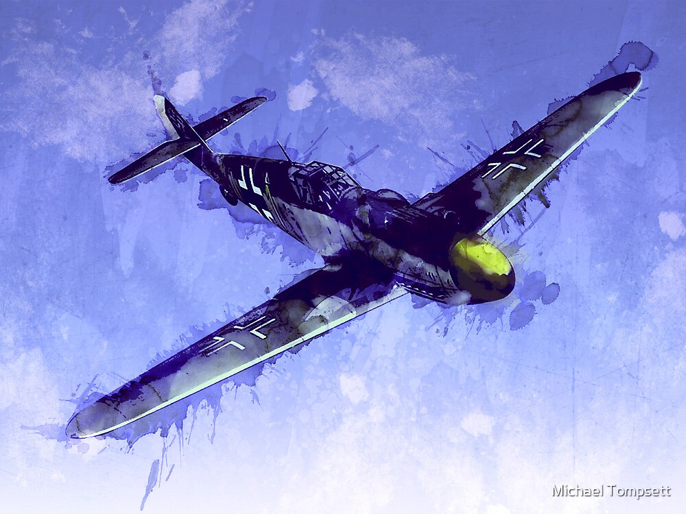 Messerschmitt Bf 109 by Michael Tompsett