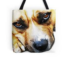 Bull Terrier Eyes Tote Bag