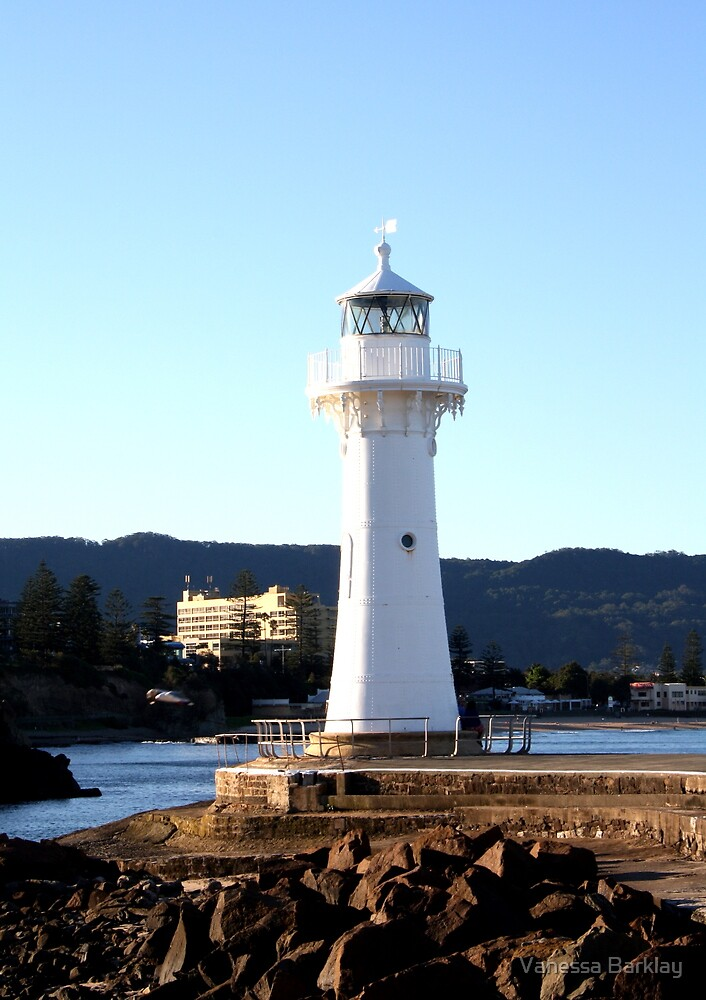 Old Lighthouse - Wollongong, Australia by Vanessa Barklay