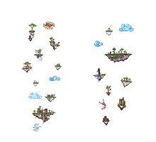 White Floating Island Leggings by shaed