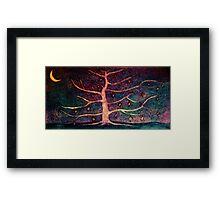 Multi-coloured sky Framed Print