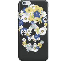 Skull with flowers 1 iPhone Case/Skin