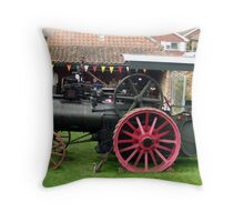 Traction Engine - Church Farm Museum, Skegness Throw Pillow