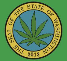 Washington Marijuana Cannabis Weed by MarijuanaTshirt