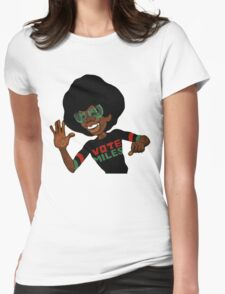Vote For Miles Davis Jazz Womens Fitted T-Shirt