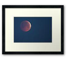 Lunar Eclipse - Winter Solstice, 21st December 2010 Framed Print