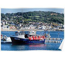 Carina At Lyme Regis Poster