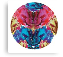 Watercolour floral circle Canvas Print