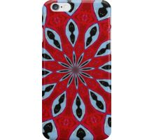 Patterned Kaleidoscope in Red and Light Blue iPhone Case/Skin