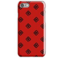 Swirlies - Black and Red iPhone Case/Skin
