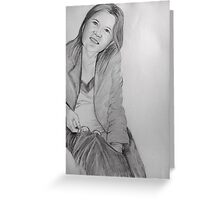 Study in graphite Greeting Card