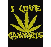 I Love Cannabis Photographic Print