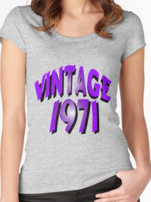 Vintage 1971 Women's Fitted Scoop T-Shirt