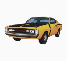 Chrysler Valiant VH Charger - Yellow Kids Clothes