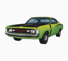 Chrysler Valiant VH Charger - Green Go One Piece - Long Sleeve