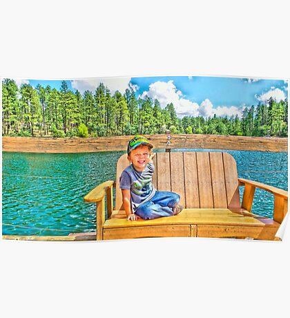 Prescott Arizona Goldwater Lake Poster