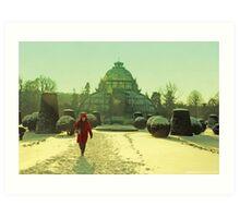 winter red hood and Palmhaus Art Print