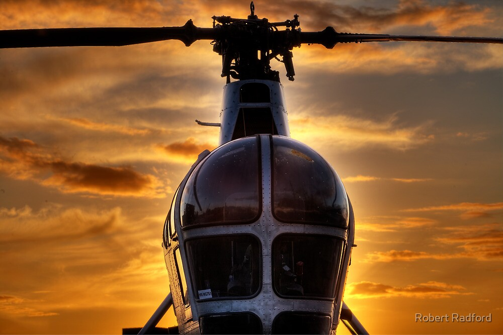 Helicopter Chatham Dockyard by Robert Radford