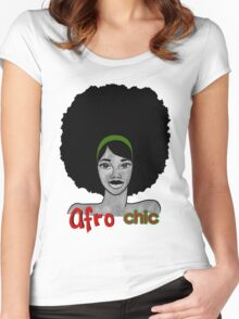 The Afro Chic Women's Fitted Scoop T-Shirt