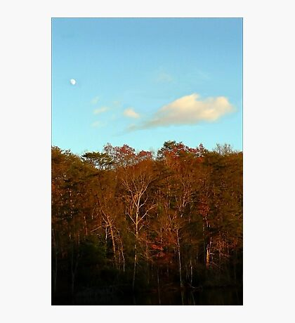 Early Moon Over Cumberland Ridge Photographic Print